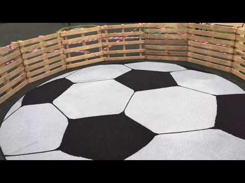 Резиновое покрытие. Футбольная площадка в г. п. Апрелевкаиз YouTube · Длительность: 4 мин14 с