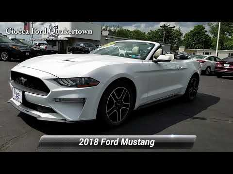 Certified 2018 Ford Mustang EcoBoost Premium, Quakertown, PA 20182925