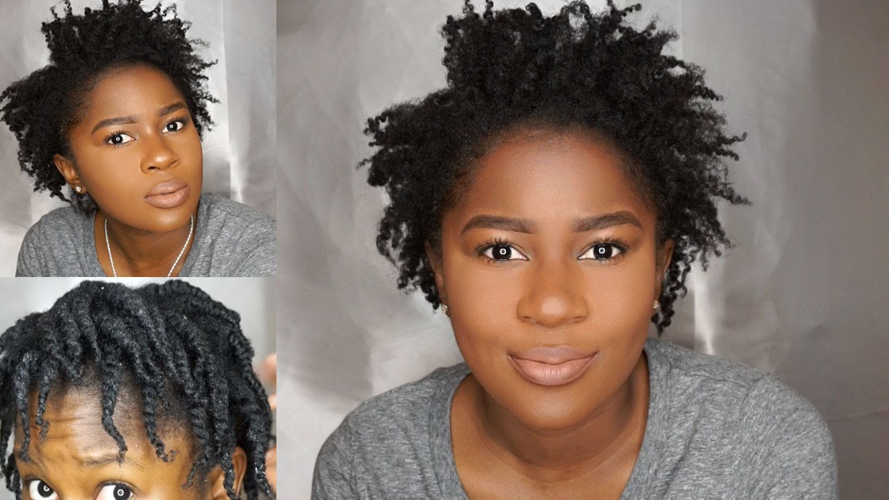 Hairstyles For Short 4c Hair Type: Super Defined Twist Out With Side Part On Short/Fine 4c
