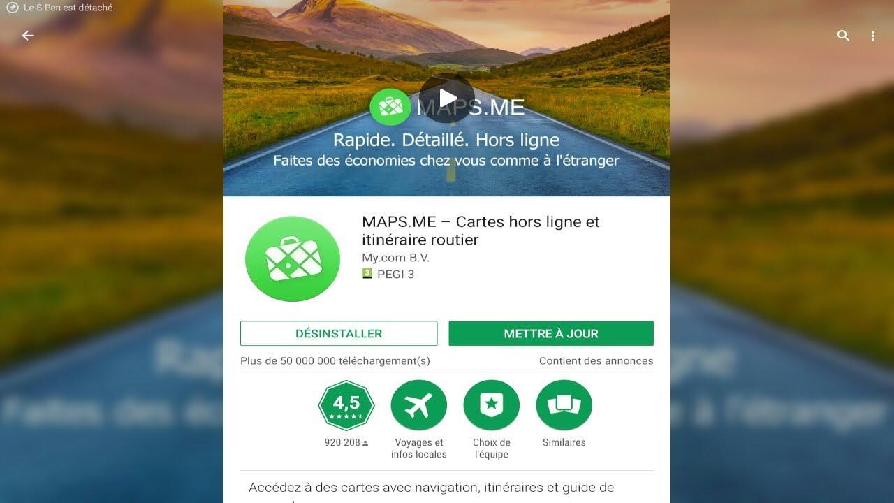 Présentation de MAPS ME – Cartes hors ligne et itinéraire routier