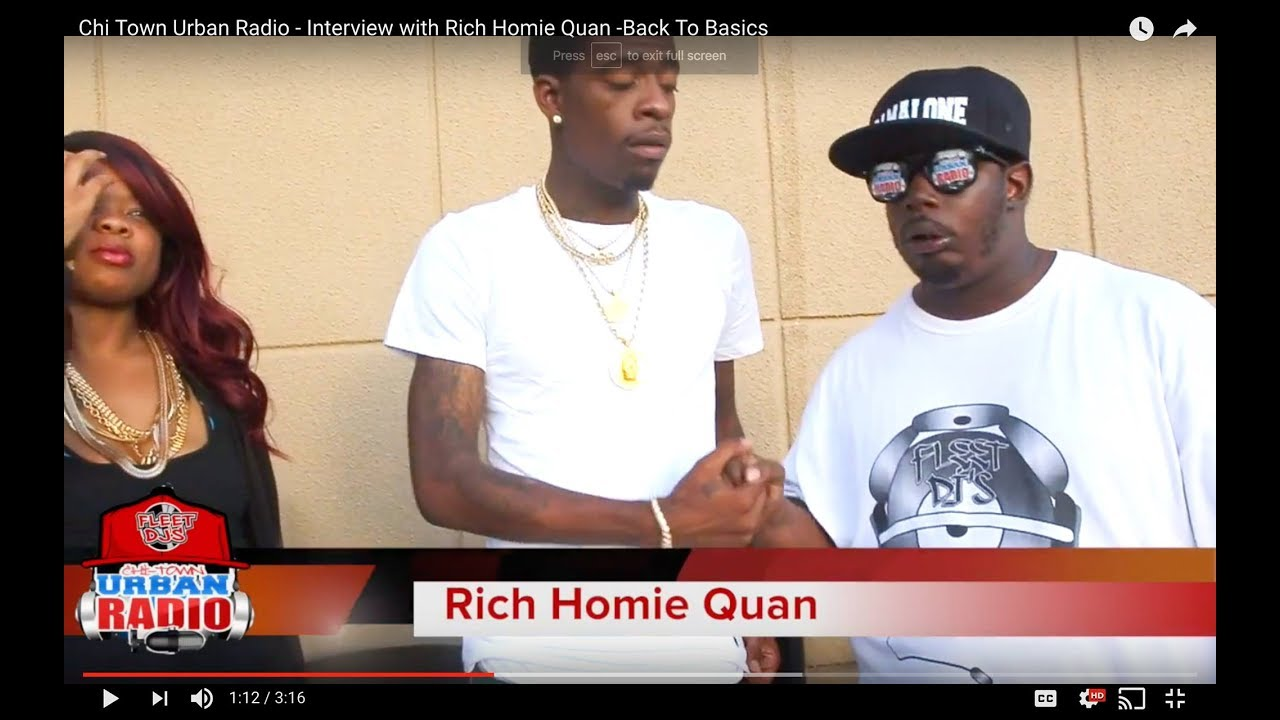 Chi Town Urban Radio - Interview with Rich Homie Quan -Back To Basics