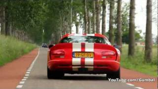 Dodge Viper GTS vs Corvette C6 Z06 - Brutal sound!! - 1080p HD