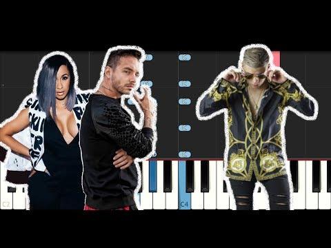 Cardi B Bad Bunny & J Balvin - I Like It (Piano Tutorial)