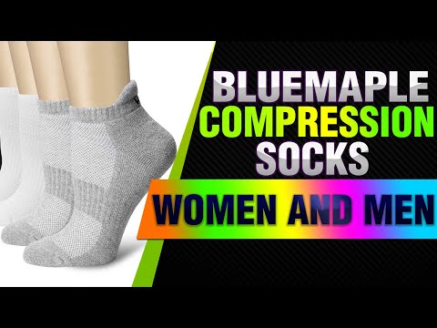 Bluemaple Compression Socks for Women and Men, Compression Ankle Socks, Golf Socks,Regular wear,