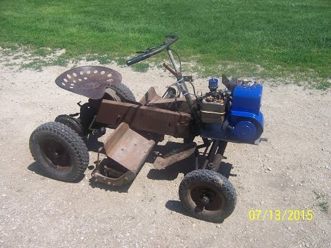 1962 National Mower Co  Riding Reel Mower