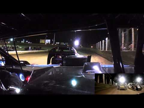 Mike Harrison In Car | Belle-Clair Speedway | Modified Feature 3.21.14