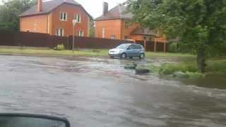 Потоп от дождя в Курске 20 06 15. Улица  8 марта.