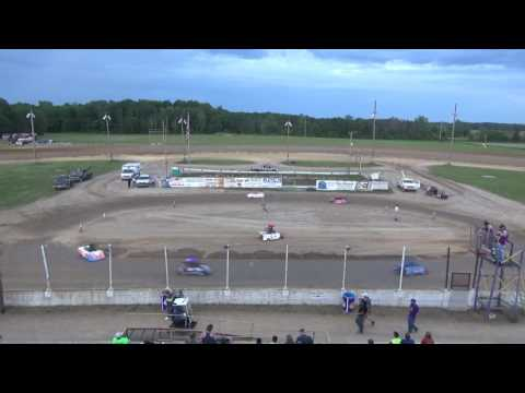 Mini Wedge Feature #2 at Crystal Motor Speedway, Michigan on 06-03-17