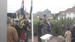 Lord LOVAT mémorial inauguration