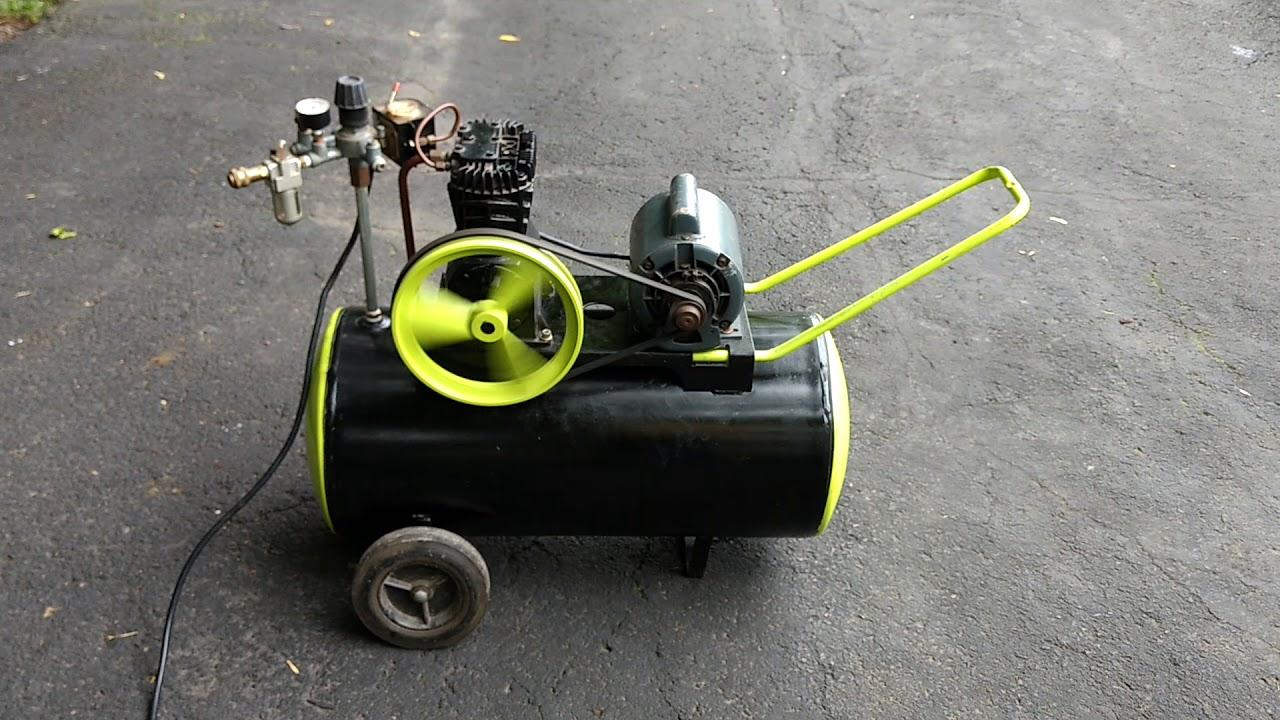 speedaire air compressor motor operating