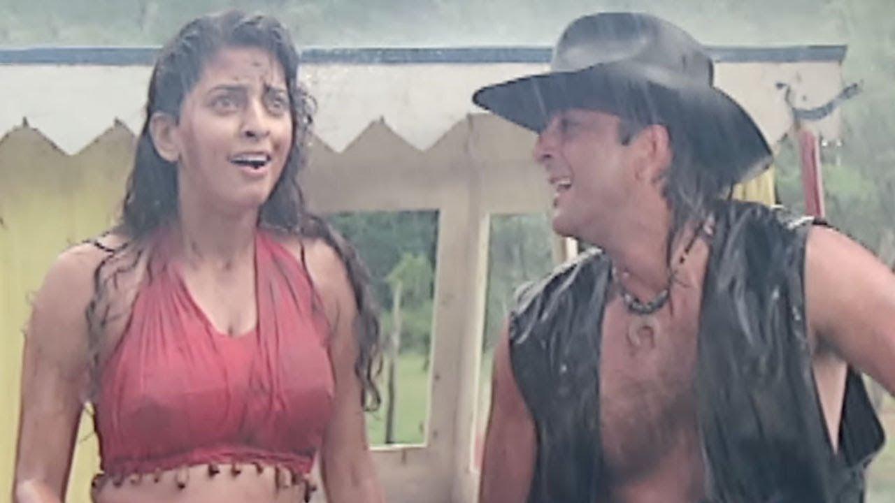 Sanjay Dutt saves Juhi Chawla's Life - Bollywood Movie Scene | Safari | Bollywood Movie