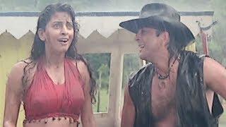 Sanjay dutt saves juhi chawla's life - bollywood movie scene | safari