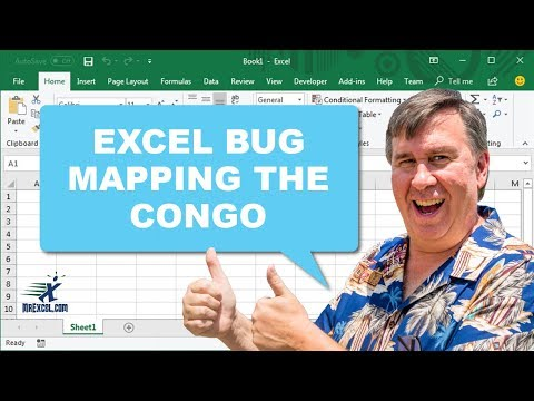 Bug in Excel: Mapping the Congo