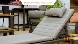 LIFE Outdoor Living - Delta sun lounger lava