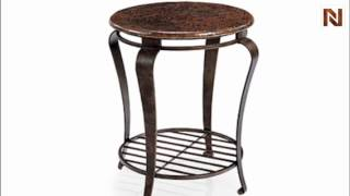 Bernhardt Clark Round End Table 477-121 Dark Brown