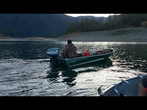 1958 75 Hp Evinrude Outboard On 12ft Sears Aluminum Boat Youtube
