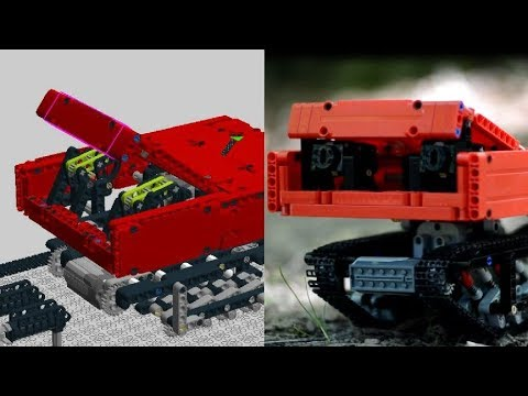 Lego Technic Suspended Tank Red Surprise Box Building Instructions