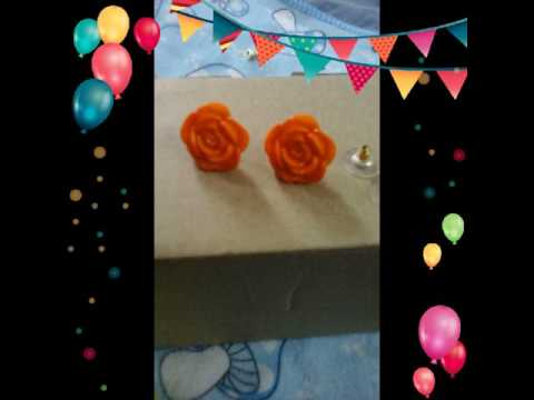 Flowers resin beads charms earrings making at home easy steps
