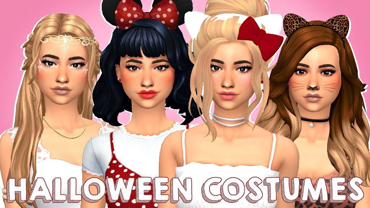 Halloween Sims 4 Cc 2020 CUTE HALLOWEEN COSTUMES 💕 | Sims 4 Create A Sim + FULL CC LIST