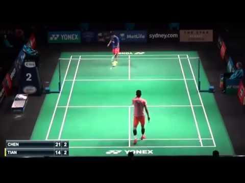 Badminton 2015 | Chen Long vs Tian Houwe . New