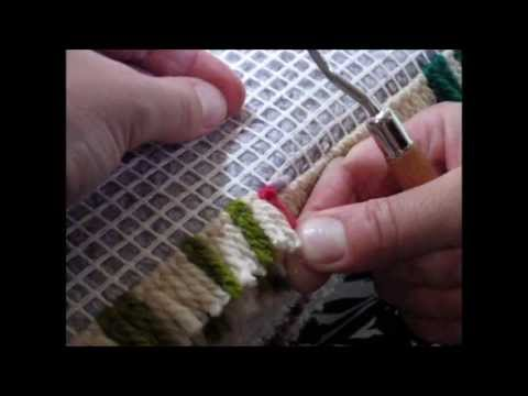 Latch Hook Tutorial By Utterly Hooked Designs Youtube