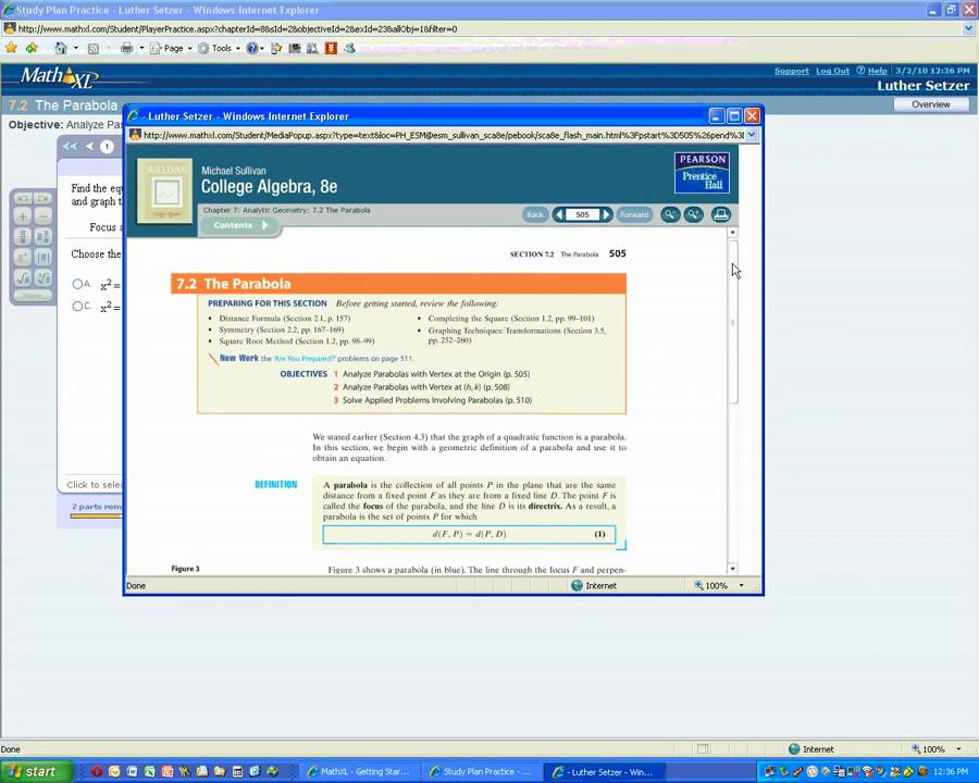 mathxl demonstration youtube