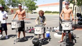 2010 Blue Devils drumline  - 12yr old Brandon center snare thumbnail