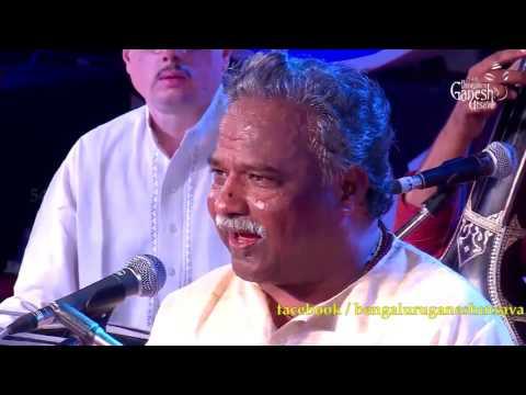 "Pt. M Venkatesh Kumar singing""Mantralaya Nivasa"" @ 54th Bengaluru Ganesh Utsava"