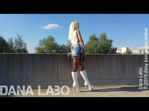 dana-labo-new-summer-collection,-catwalk-shorts-jeans-zip,-high-laced-leather-boots