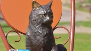 В Санкт-Петербурге появилась бронзовая скульптура ярославской кошки