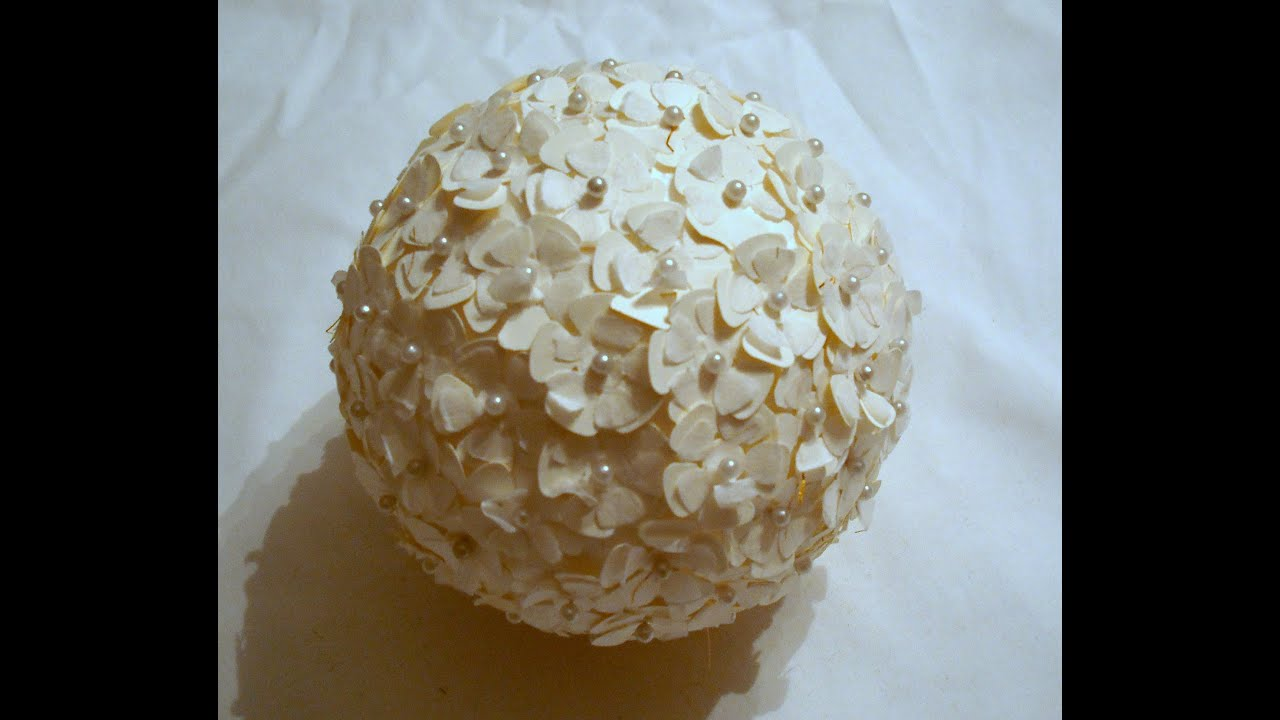 How to make a flower ball youtube how to make a flower ball mightylinksfo Choice Image
