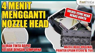 4 Menit Mengganti Nozzle Head Printer Epson R1390 & T60   Solusi Tepat Head Bebas Buntu