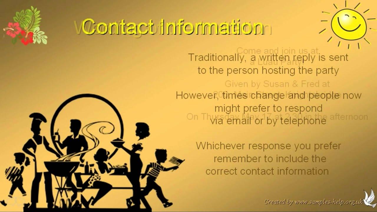 Luau invitation wording youtube luau invitation wording stopboris Gallery
