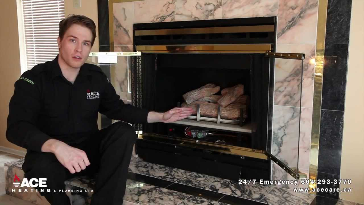 Turning on Pilot Light on fireplace | No Heat Trouble Shooting ...