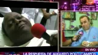 A las once - Augusto Polo Campos respondió a Pepe Vásquez por comentarios a su esposa