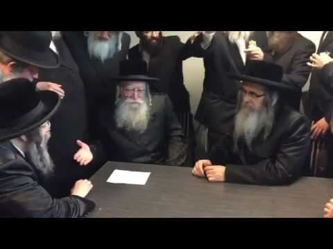 Satmar And Pshevorsk Rebbe Meeting With European Donors In Paris - Tammuz 5777