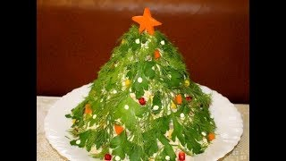 Салат на Новый год «Ёлочка»