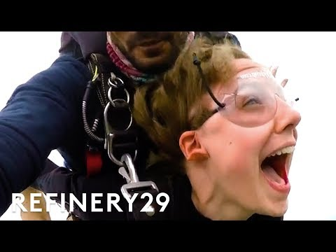 SKYDIVING! I Jumped Out Of A Plane For The First Time | Try This Challenge | Refinery29