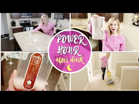 POWER HOUR AFTER DARK | SPEED CLEAN WITH ME 2017 | MAJOR CLEANING MOTIVATION | DIRTY FLOOR CLEANING