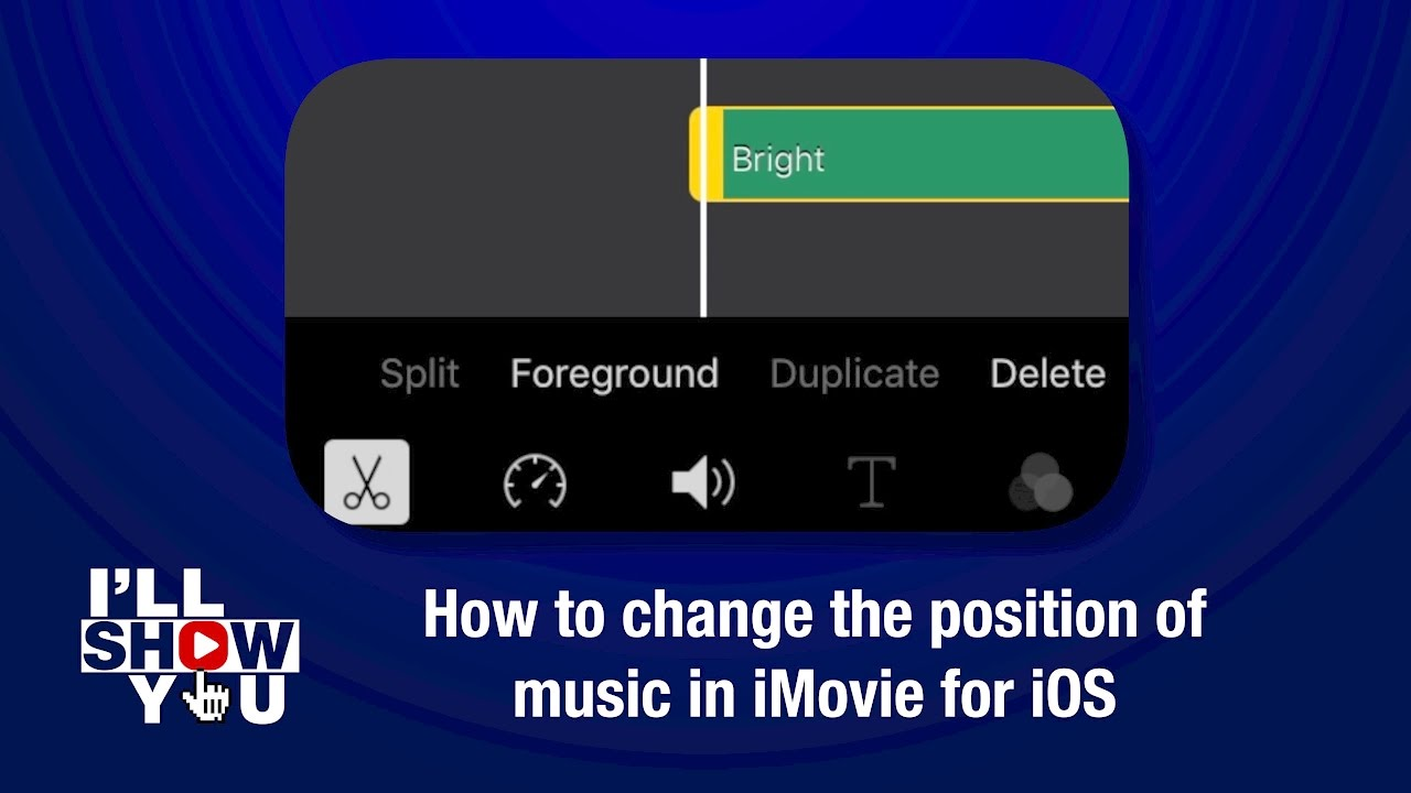 How to change the position of music in iMovie for iOS