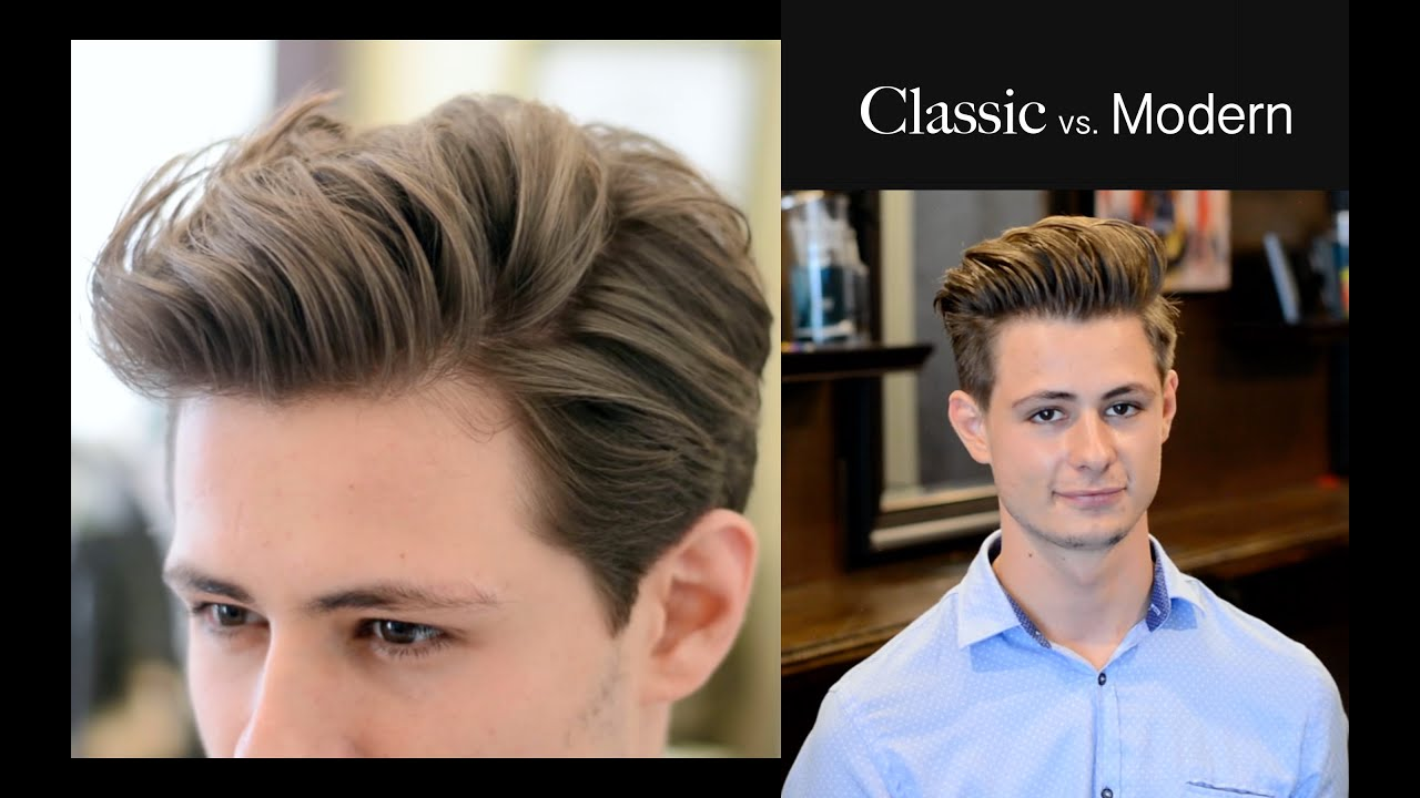 mens hair   classic vs. modern - 2 different haircuts & hairstyle