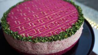 Dekor Biskuit mit Pflaumenmousse - Reliefmatten Biskuit mit Plaumenfüllung - Kuchenfee