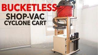 Shop Vac & Dust Deputy - Bucketless Dust Collection Cart