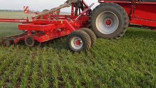 Выращивание озимой пшеницы. No-till 06.04.2018. Подкормка сеялкой