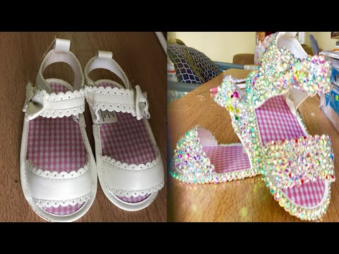 dIY TODDLER BLING SANDAL