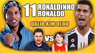 RONALDO vs RONALDINHO OYNASAYDI KİM QALİB OLARDI!