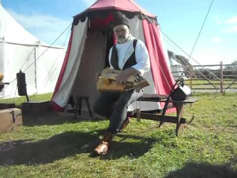 Medieval Free Company - Hurdy Gurdy being played at Corfe Castle