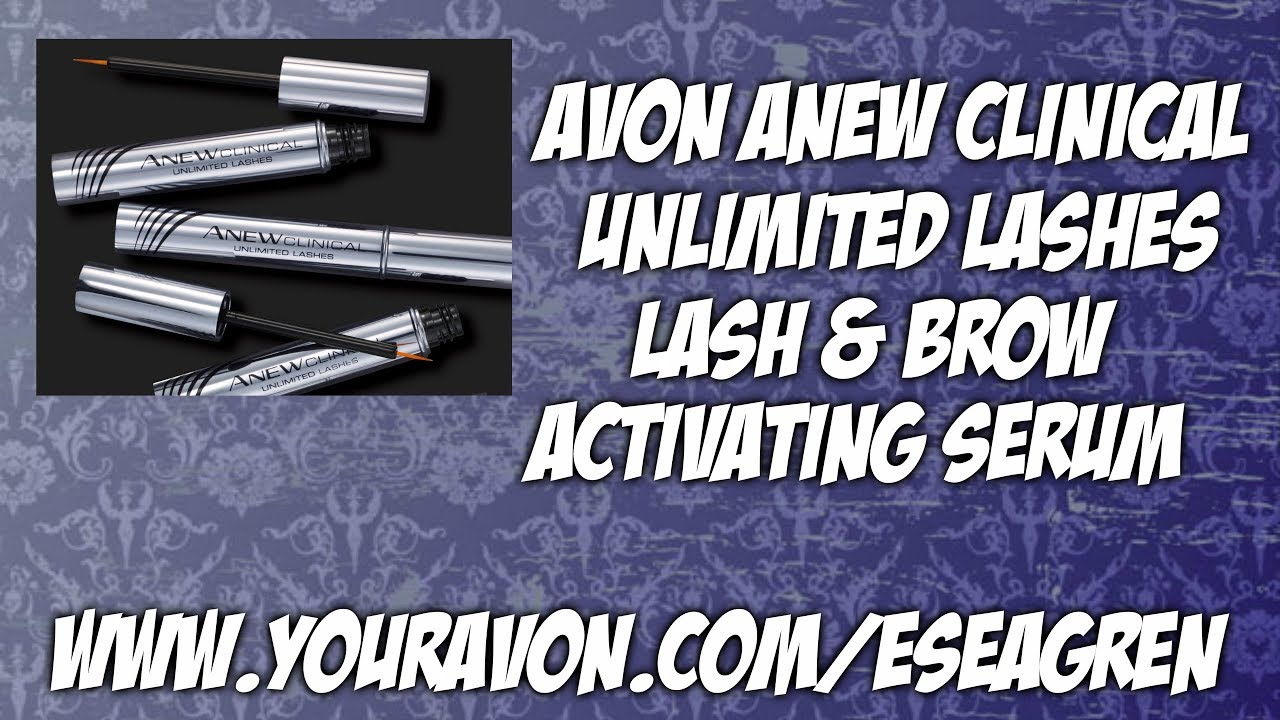 b9c68fc1f37 Avon Anew Clinical Unlimited Lashes Lash & Brow Activating Serum - YouTube