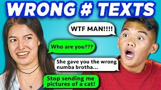 TEENS READ 10 WRONG NUMBER TEXTS (REACT)