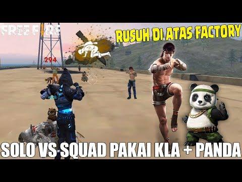 AJAKIN PET PANDA BARBAR DI ATAS FACTORY - LANGSUNG RATAIN 2 SQUAD SENDIRIAN! FREE FIRE INDONESIA